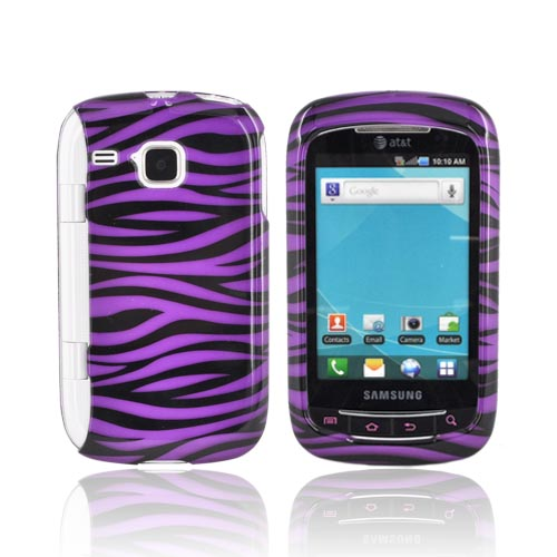 Samsung DoubleTime Hard Case - Purple/ Black Zebra