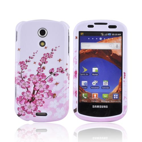 Samsung Epic 4G Hard Case - Pink Cherry Blossom on White