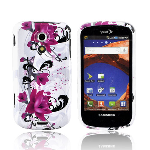 Samsung Epic 4G Hard Case - Pink Flowers on White