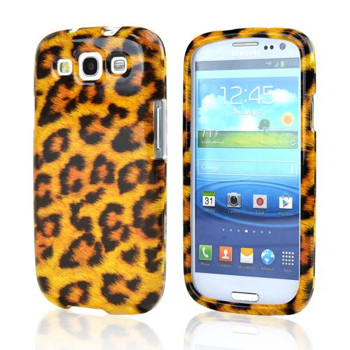 Samsung Galaxy S3 Hard Case - Brown/ Black Leopard