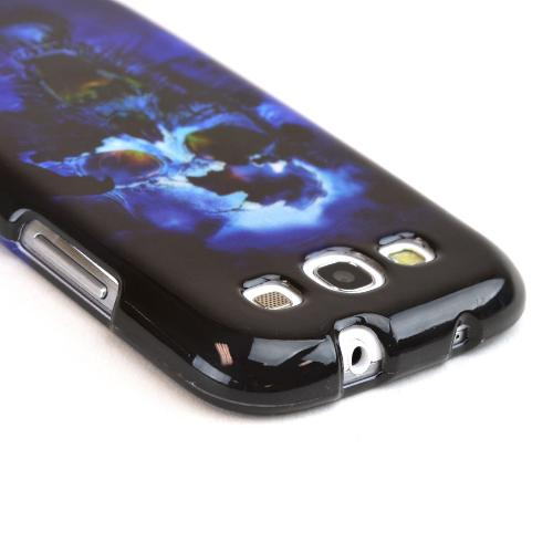 Samsung Galaxy S3 Hard Case - Blue Skull