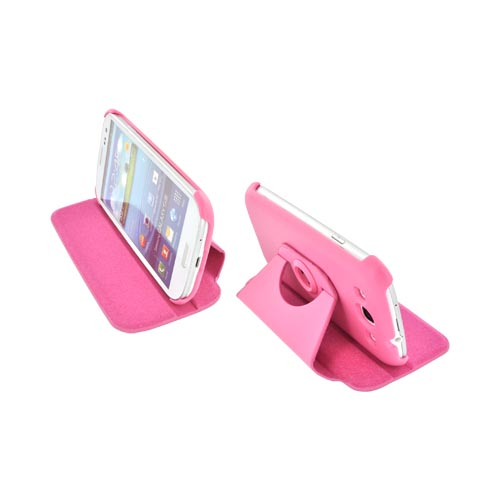 Samsung Galaxy S3 Hard Case w/ Flip Cover & Rotatable Shield Stand - Pink