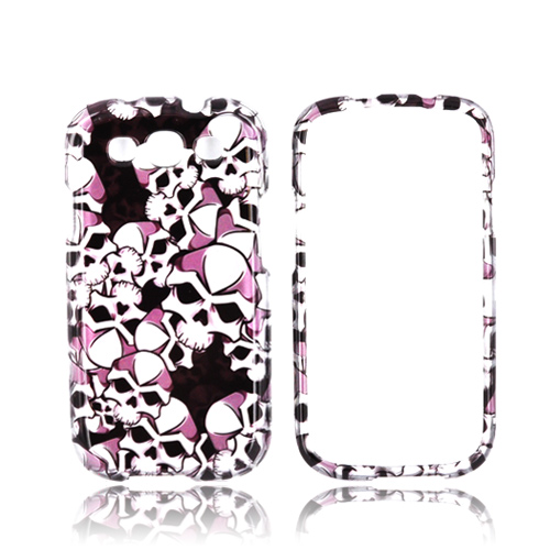 Samsung Galaxy S3 Hard Case - Silver Skulls on Black