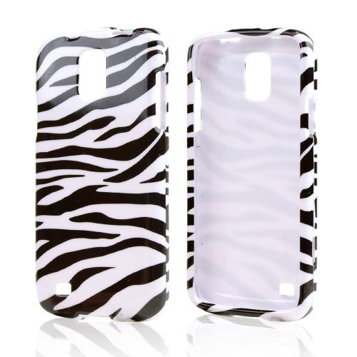 Black Zebra on White Hard Case for Samsung Galaxy S4 Active