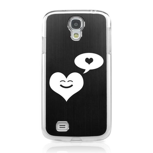 Heart Dreamer - Geeks Designer Line Laser Series Black Aluminum on Clear Case for Samsung Galaxy S4