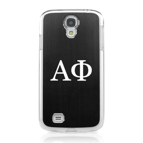 Alpha Phi - Geeks Designer Line Laser Series Black Aluminum on Clear Case for Samsung Galaxy S4