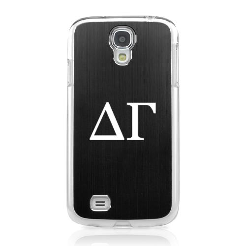 Delta Gamma - Geeks Designer Line Laser Series Black Aluminum on Clear Case for Samsung Galaxy S4