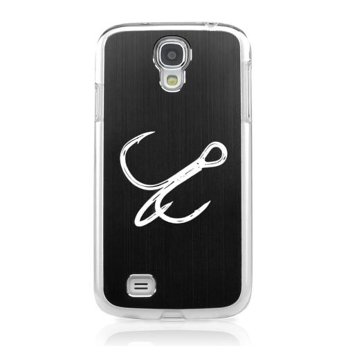 Fish Hook - Geeks Designer Line Laser Series Black Aluminum on Clear Case for Samsung Galaxy S4