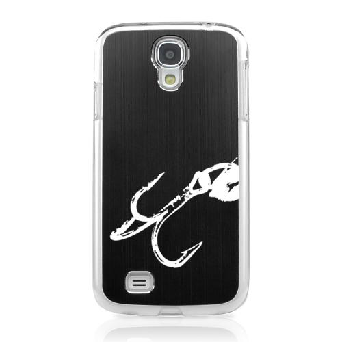 Fish Hook 2.0 - Geeks Designer Line Laser Series Black Aluminum on Clear Case for Samsung Galaxy S4