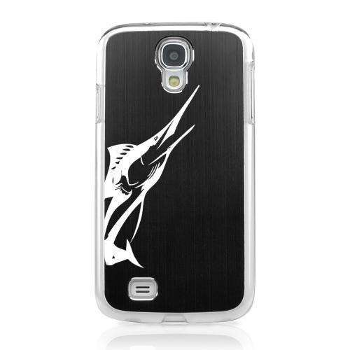 Marlin - Geeks Designer Line Laser Series Black Aluminum on Clear Case for Samsung Galaxy S4