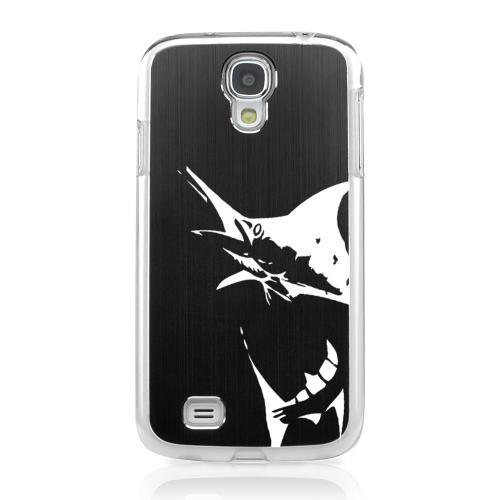 Marlin 2.0 - Geeks Designer Line Laser Series Black Aluminum on Clear Case for Samsung Galaxy S4