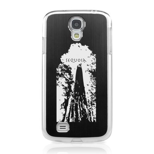 Sequoia Tree - Geeks Designer Line Laser Series Black Aluminum on Clear Case for Samsung Galaxy S4