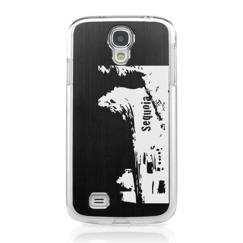 Sequoia Fallen Tree Tunnel - Geeks Designer Line Laser Series Black Aluminum on Clear Case for Samsung Galaxy S4
