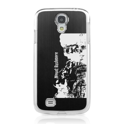 Mount Rushmore - Geeks Designer Line Laser Series Black Aluminum on Clear Case for Samsung Galaxy S4