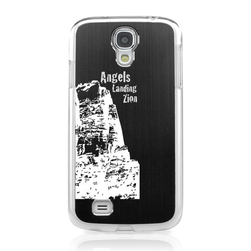 Angels Landing Zion Canyon - Geeks Designer Line Laser Series Black Aluminum on Clear Case for Samsung Galaxy S4