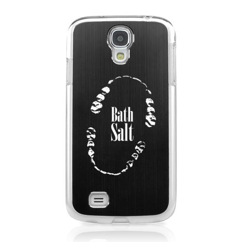 Bath Salt Teeth - Geeks Designer Line Laser Series Black Aluminum on Clear Case for Samsung Galaxy S4