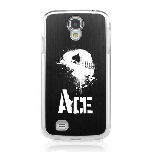 Ace Helmet - Geeks Designer Line Laser Series Black Aluminum on Clear Case for Samsung Galaxy S4