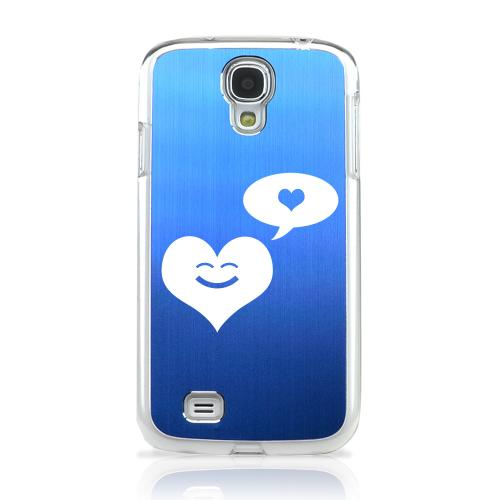 Heart Dreamer - Geeks Designer Line Laser Series Blue Aluminum on Clear Case for Samsung Galaxy S4