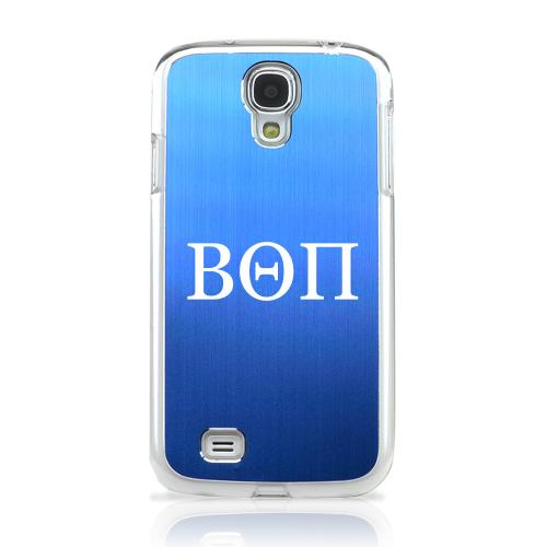 Beta Theta Pi - Geeks Designer Line Laser Series Blue Aluminum on Clear Case for Samsung Galaxy S4