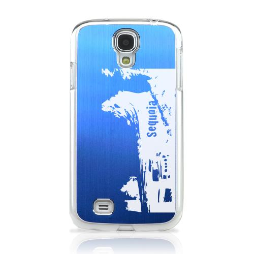 Sequoia Fallen Tree Tunnel - Geeks Designer Line Laser Series Blue Aluminum on Clear Case for Samsung Galaxy S4