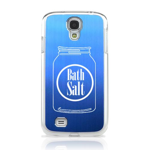 Bath Salt Jar - Geeks Designer Line Laser Series Blue Aluminum on Clear Case for Samsung Galaxy S4