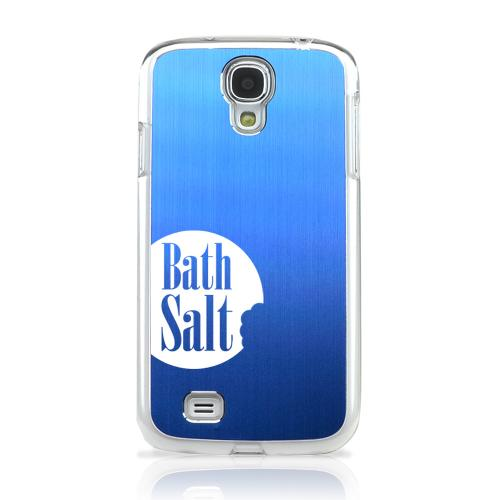 Bath Salt Bite - Geeks Designer Line Laser Series Blue Aluminum on Clear Case for Samsung Galaxy S4
