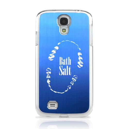 Bath Salt Teeth - Geeks Designer Line Laser Series Blue Aluminum on Clear Case for Samsung Galaxy S4