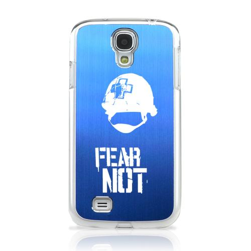 I Need A Medic! - Geeks Designer Line Laser Series Blue Aluminum on Clear Case for Samsung Galaxy S4