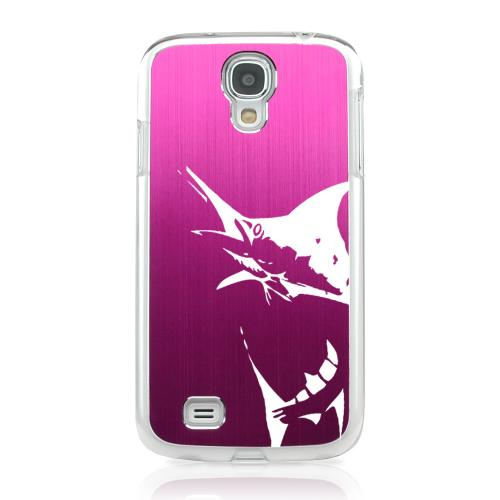 Marlin 2.0 - Geeks Designer Line Laser Series Hot Pink Aluminum on Clear Case for Samsung Galaxy S4