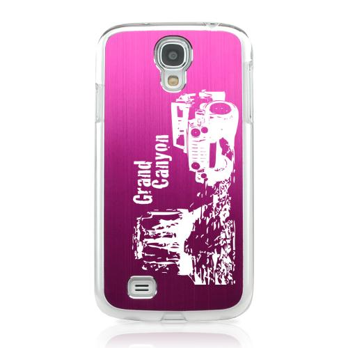 Grand Canyon - Geeks Designer Line Laser Series Hot Pink Aluminum on Clear Case for Samsung Galaxy S4