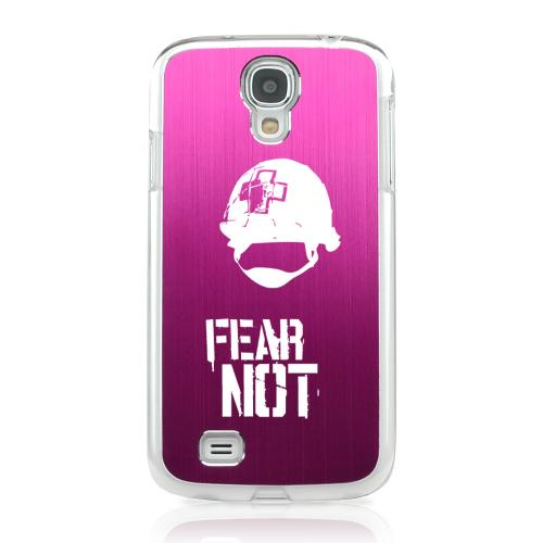 I Need A Medic! - Geeks Designer Line Laser Series Hot Pink Aluminum on Clear Case for Samsung Galaxy S4