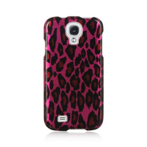 Hot Pink/ Black Leopard Hard Case for Samsung Galaxy S4