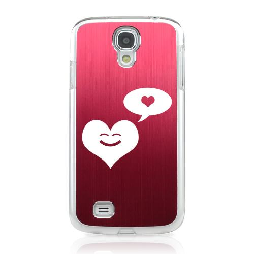Heart Dreamer - Geeks Designer Line Laser Series Red Aluminum on Clear Case for Samsung Galaxy S4
