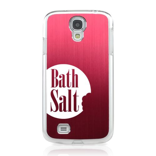 Bath Salt Bite - Geeks Designer Line Laser Series Red Aluminum on Clear Case for Samsung Galaxy S4