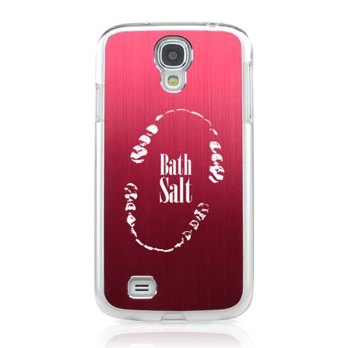 Bath Salt Teeth - Geeks Designer Line Laser Series Red Aluminum on Clear Case for Samsung Galaxy S4