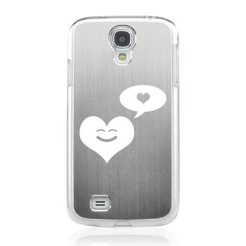 Heart Dreamer - Geeks Designer Line Laser Series Silver Aluminum on Clear Case for Samsung Galaxy S4