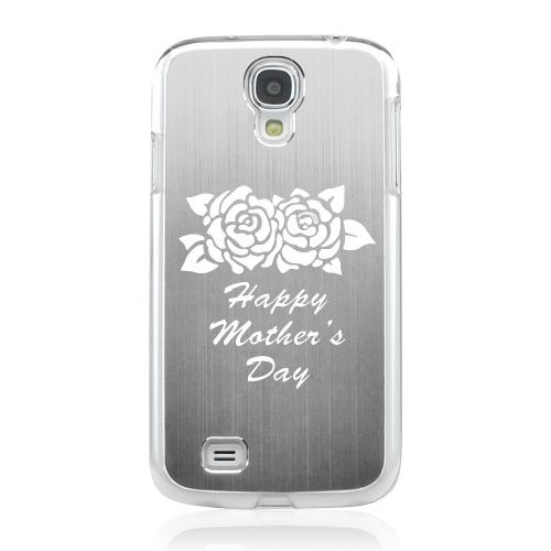 Flower Mother Day - Geeks Designer Line Laser Series Silver Aluminum on Clear Case for Samsung Galaxy S4