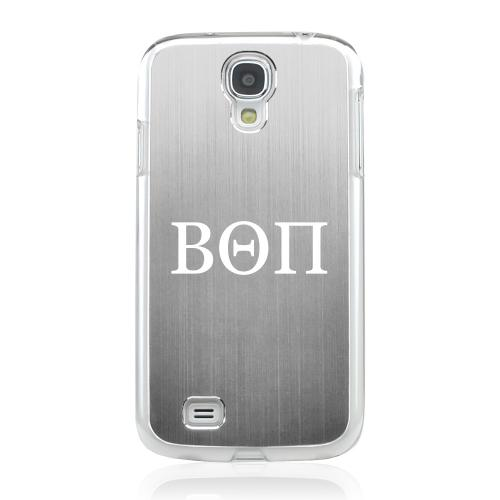 Beta Theta Pi - Geeks Designer Line Laser Series Silver Aluminum on Clear Case for Samsung Galaxy S4