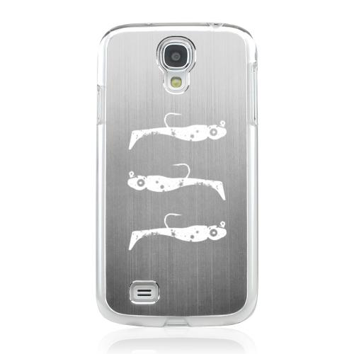 Fish Bait - Geeks Designer Line Laser Series Silver Aluminum on Clear Case for Samsung Galaxy S4