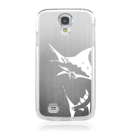 Marlin 2.0 - Geeks Designer Line Laser Series Silver Aluminum on Clear Case for Samsung Galaxy S4