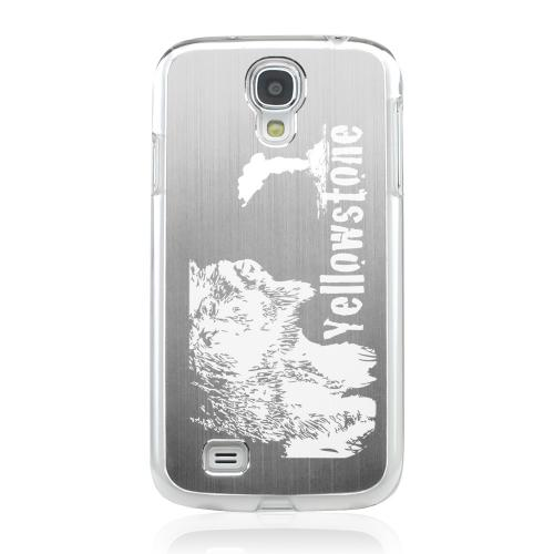Yellowstone - Geeks Designer Line Laser Series Silver Aluminum on Clear Case for Samsung Galaxy S4
