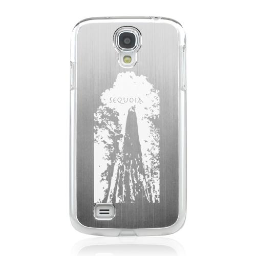 Sequoia Tree - Geeks Designer Line Laser Series Silver Aluminum on Clear Case for Samsung Galaxy S4