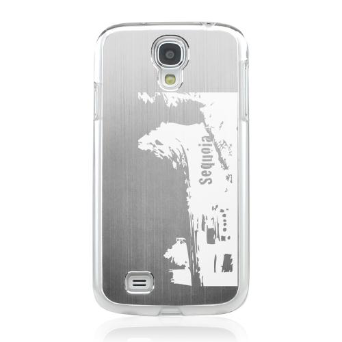 Sequoia Fallen Tree Tunnel - Geeks Designer Line Laser Series Silver Aluminum on Clear Case for Samsung Galaxy S4