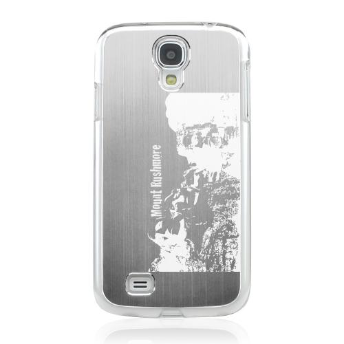 Mount Rushmore - Geeks Designer Line Laser Series Silver Aluminum on Clear Case for Samsung Galaxy S4