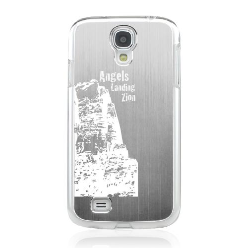 Angels Landing Zion Canyon - Geeks Designer Line Laser Series Silver Aluminum on Clear Case for Samsung Galaxy S4