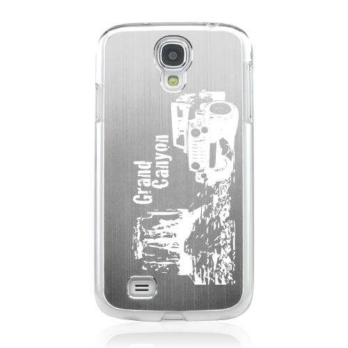 Grand Canyon - Geeks Designer Line Laser Series Silver Aluminum on Clear Case for Samsung Galaxy S4