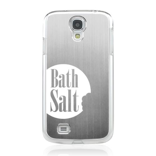 Bath Salt Bite - Geeks Designer Line Laser Series Silver Aluminum on Clear Case for Samsung Galaxy S4