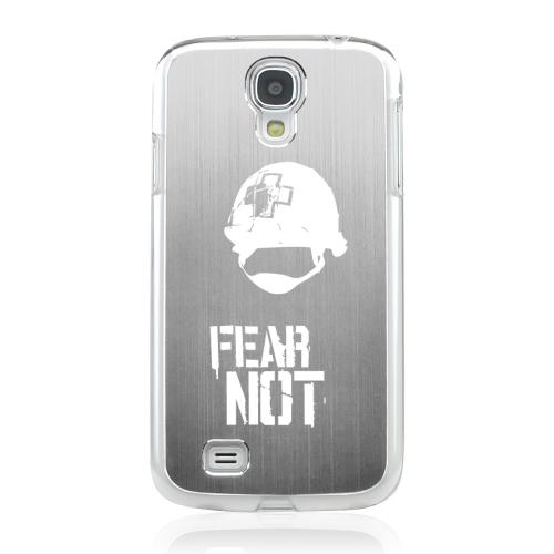 I Need A Medic! - Geeks Designer Line Laser Series Silver Aluminum on Clear Case for Samsung Galaxy S4