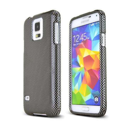 Gray/ Black Carbon Fiber Design Hard Case for Samsung Galaxy S5