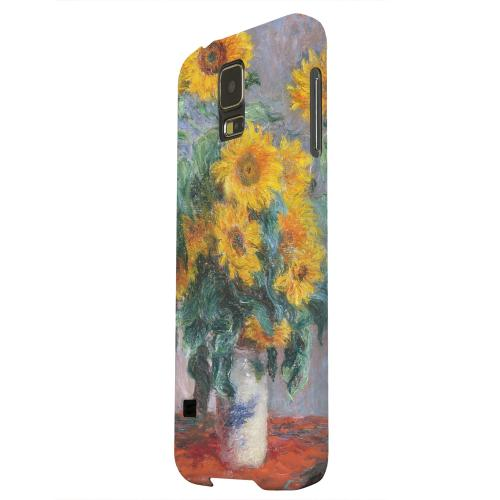 Geeks Designer Line (GDL) Samsung Galaxy S5 Matte Hard Back Cover - Claude Monet Bouquet of Sunflowers